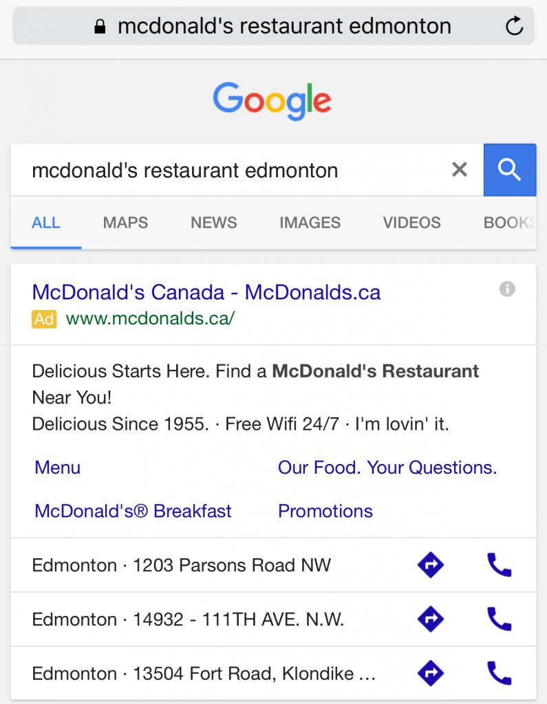 mcdonalds-edmonton-google-search-mobile