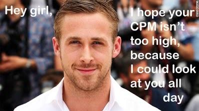 Ryan Gosling meme about CPM pricing.