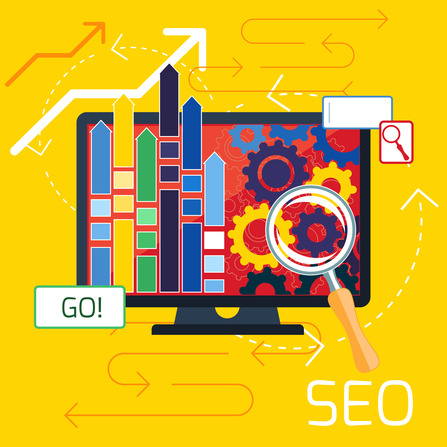 SEO optimization, programming process and web analytics elements