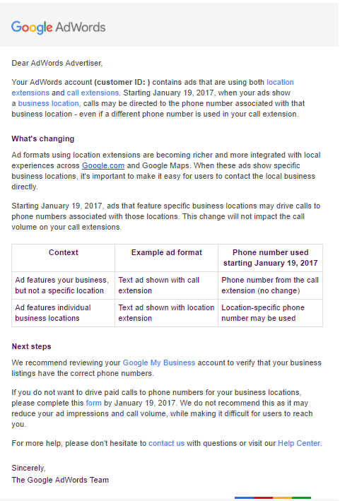 adwords email