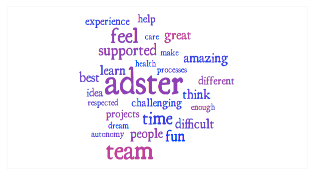 adster careers word cloud