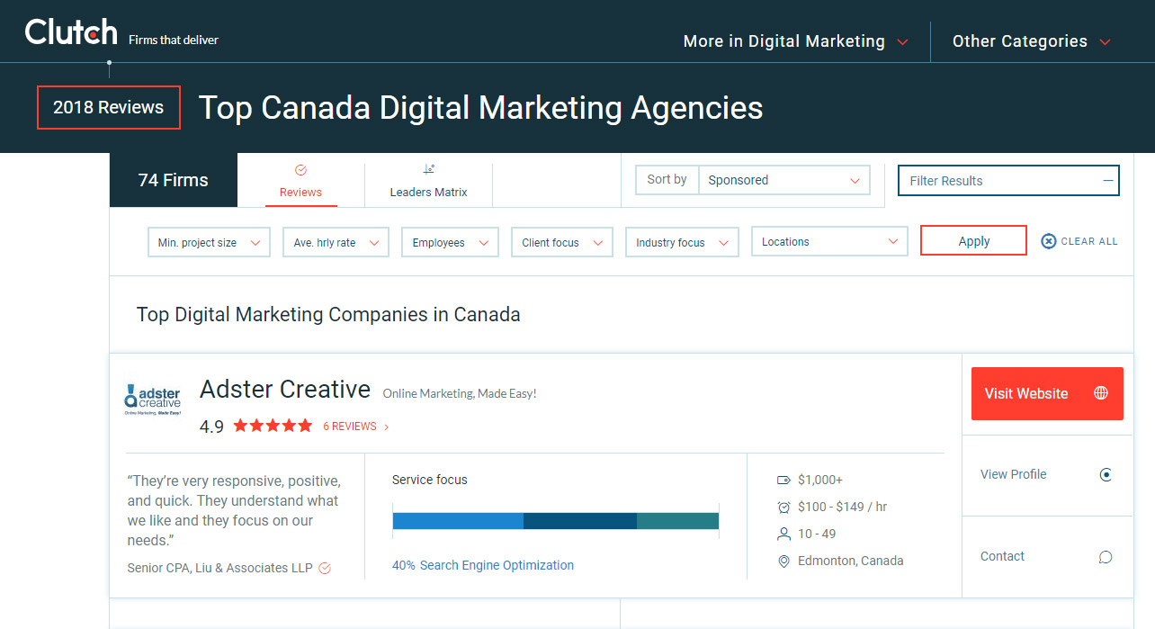 Best SEO & Digital Marketing Agency Alberta