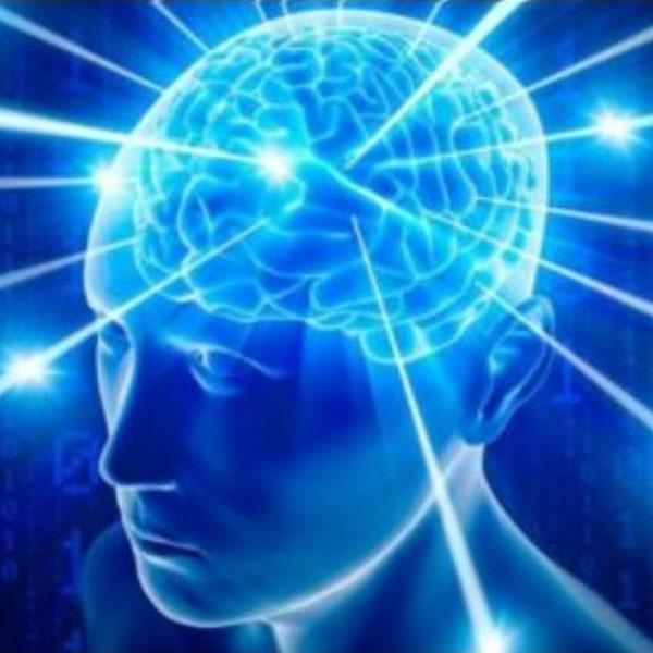 Image of brain glowing