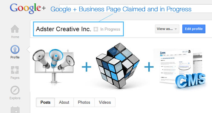 Claim Google + Local
