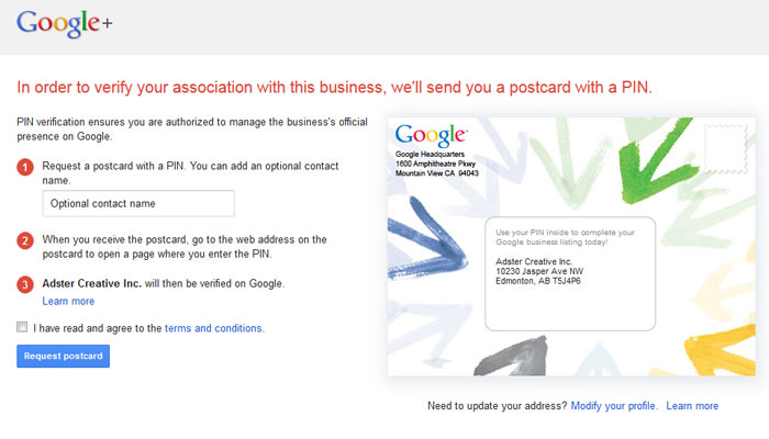 Google+ PIN Verification
